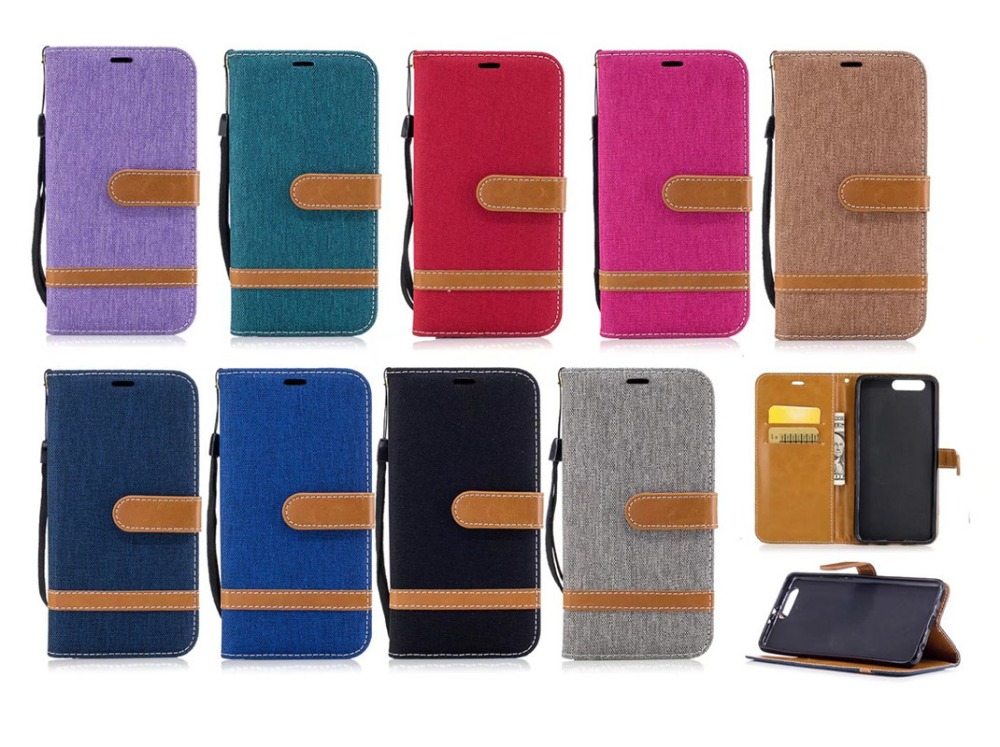 Двойной Цвет ковбой Флип кожаный чехол для телефона Huawei <font><b>P9</b></font> P10 плюс отделения для карточек + подставка Кобура чехол для huawei P8 <font><b>Lite</b></font> <font><b>2017</b></font>