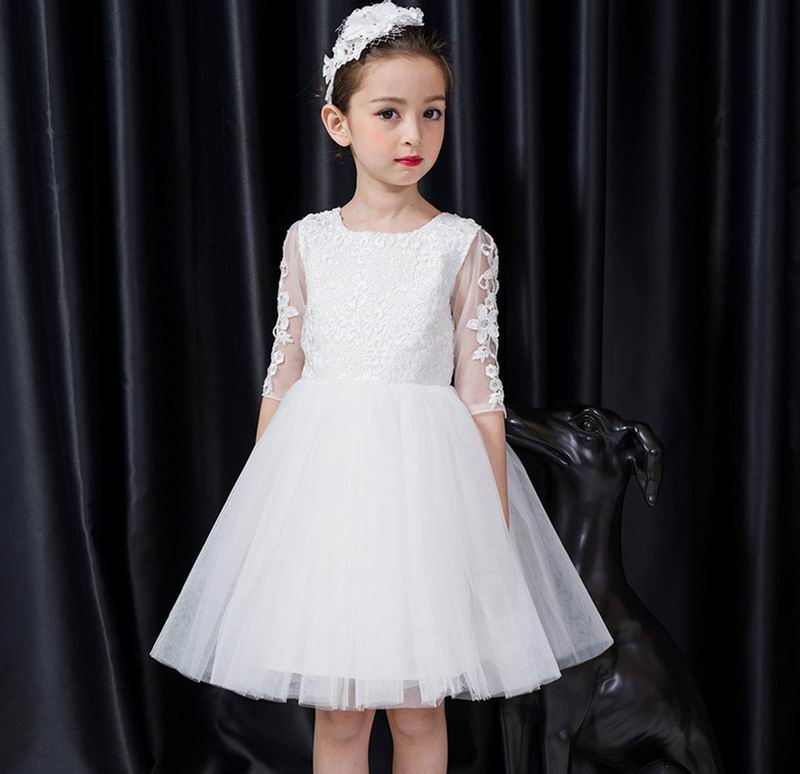 Retail Kids Girls Dresses Summer Wedding Party Princess Flower Girl Dresses Birthday Tutu Dress Children Clothing E9150 john frieda средство для создания объема длительного действия luxurious volume 7 day 100 мл