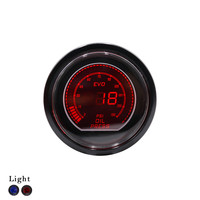 52mm 2inch Oil Press Gauge EVO LCD Red Blue Oil Pressure Gauge Smoke Lens With Sensor