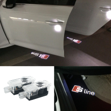 2 X Audi Car Door LED Logo Light Laser Projector Lights Ghost Shadow Welcome Lamp A1 A3 A4 A7 A5 A6 C5 Q3 Q5 Q7 A8 R8 Sline TT