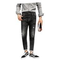 Джинсы для осенние и зимние мужские стройная фигура и маленькие ноги для мужчин джинсы корейской версии тенденция 2018 новых молодых Штаны вы