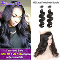 10A 360 Lace Frontal With Bundle Malaysian Body Wave Malaysian Virgin Hair Human Hair Bundles Lace Frontal Closure with Bundles