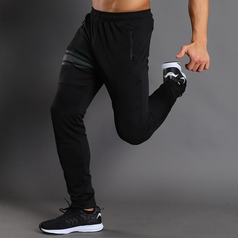BARBOSK Men Running Pants Slim Fit Joggers Sportswear Fitness Leggings Tracksuit Exercise Training Elastic Trousers