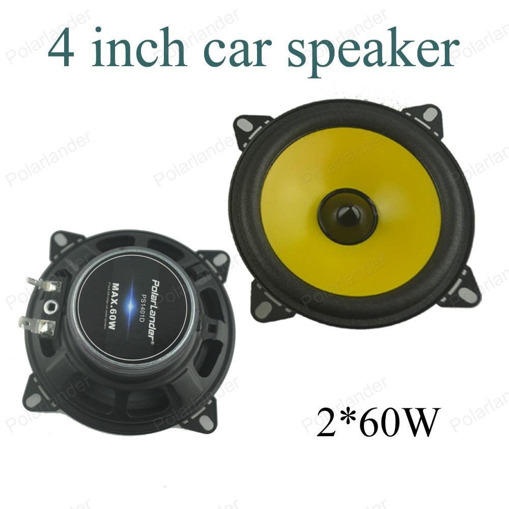 a pair 4 inch Full-range car speaker Automobile automotive PS401D car audio stereo speaker 2x60W Loudspeakers