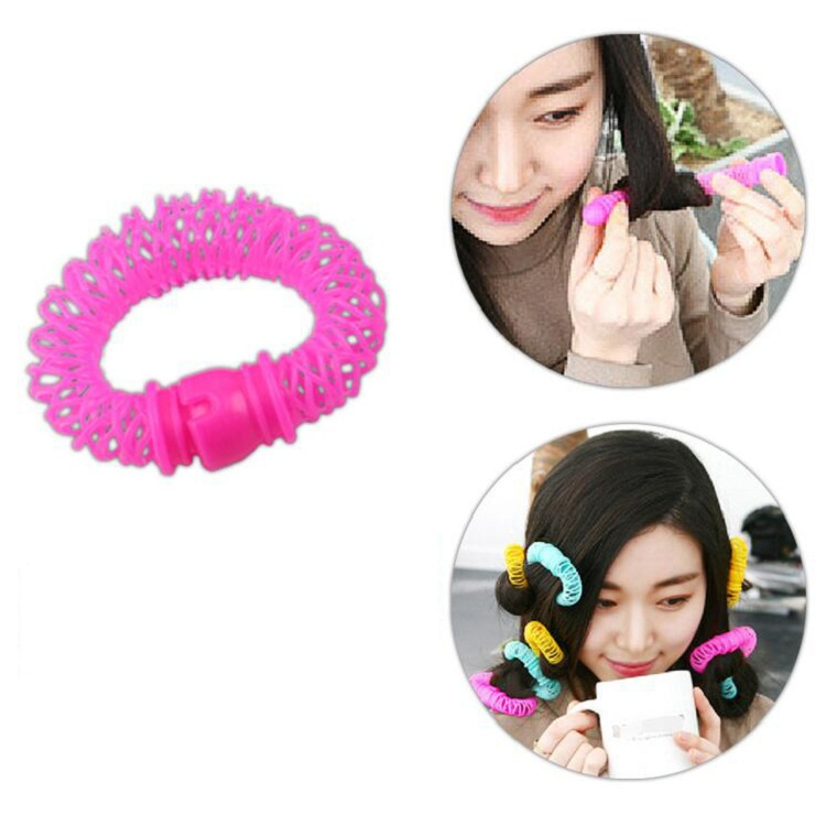 hair curler Roll roller Twist Hair Care Styling stick Roller DIY tools harmless safe plastic for lady girls round Small wh