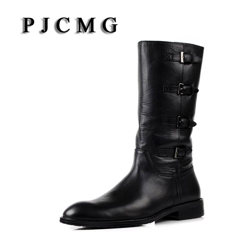PJCMG Տղամարդկանց նոր կոշիկներ Բնական Կաշի բարձր ոտքով Մարտին Տղամարդկանց կոշիկներ Զայփեր Դիզայն մարտավարական կոշիկներ Դելտա տղամարդկանց սև կոշիկներ