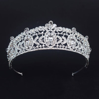 do dower free ship Hot Sell Europe Bride Wedding Crown White Crystal Large Queen Crown Wedding Hair Accessories for Women HG-G18