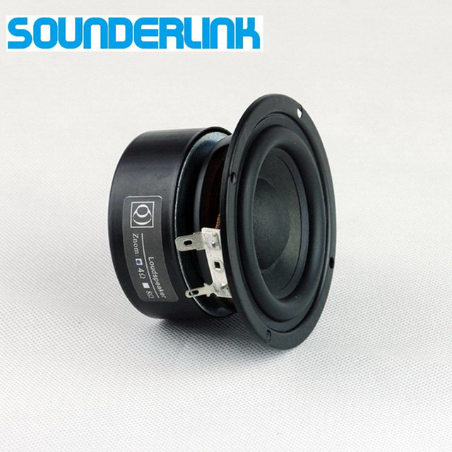 2 piezas mucho Sounderlink de laboratorios 3 ''25 W HiFi subwoofer altavoz bass altavoz conductor 3 pulgadas 30 W la gama completa