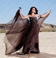 Qualidade Halter fluindo Ruched cinza Selena Gomez vestidos celebridade famosa vestidos 2015 Vestido De Festa