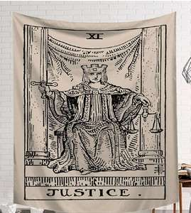 Image 3 - CAMMITEVER Power God Tapestry High Quality Fabric Wall Carpet Table Cloth Beach Cloth Dark Constellation Shawl/Blanket