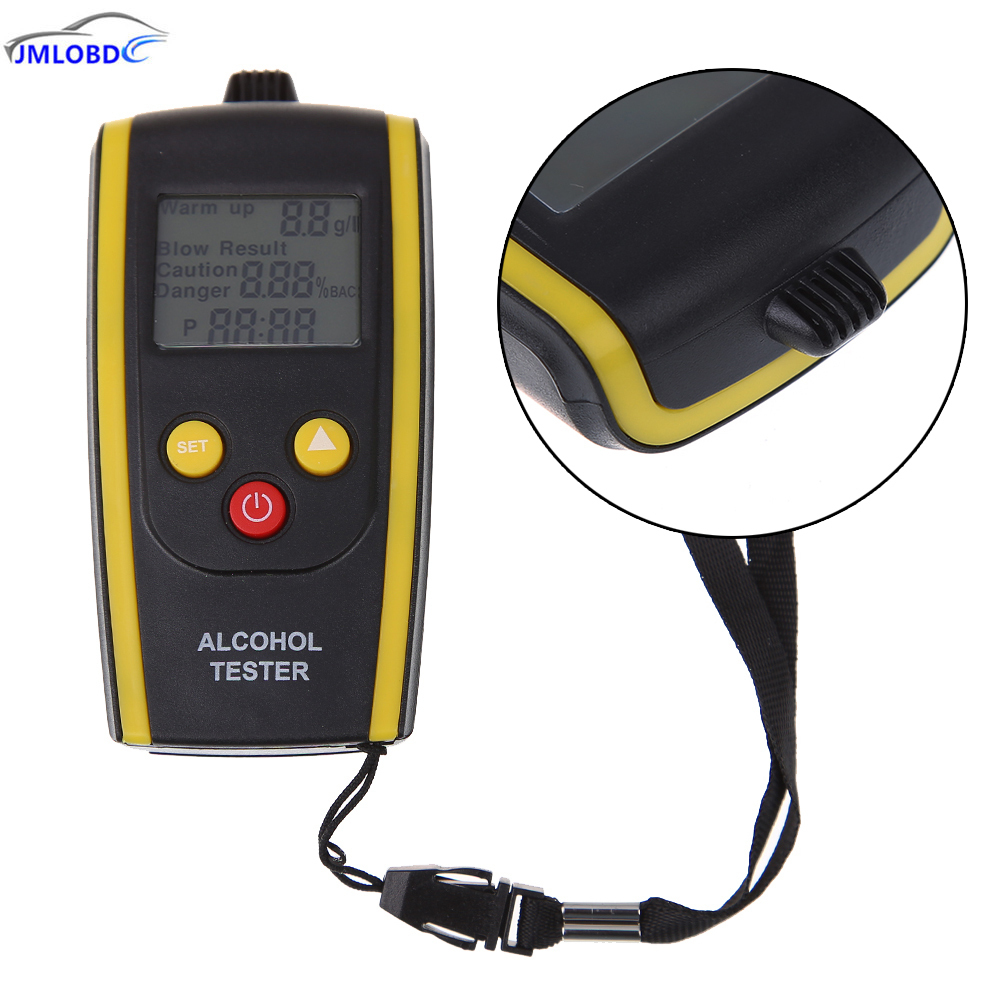 цена на 2018 Portable LCD Digital Alcohol Tester Quick Response Breathalyzer Breath Analyzer Alcotester Detector with Backlight Display