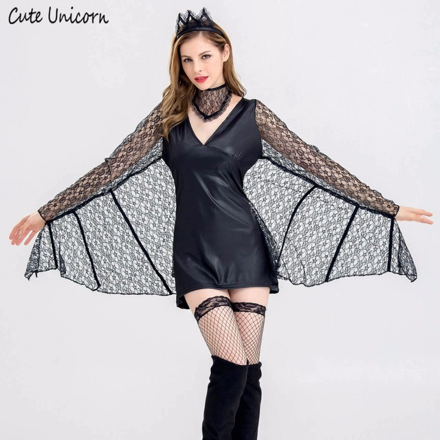 Evil Bat Vampire Halloween Costumes for women party Cosplay Costume  masquerade dresses girls clothes sexy outfit e41dc750264d