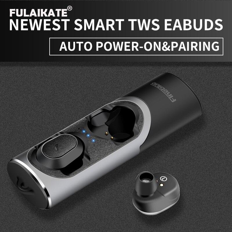 FLAIKATE écouteur sans fil pour iPhone téléphone intelligent tablette PC TWS Bluetooth V5.0 casque stéréo musique aimant mains libres écouteur