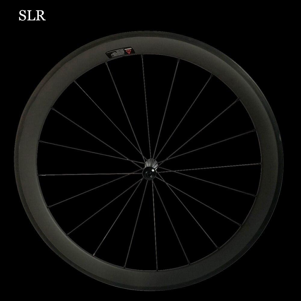 CSC SLR Carbon Road Bike Wheelset Straight Pull Low Resistance Ceramic Hub 25mm U Shape Tubular