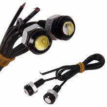 New Sale 3W White LED Ultra-Thin Larger Lens Daytime  Eagle Eye Reverse Light 6pcs/lot white