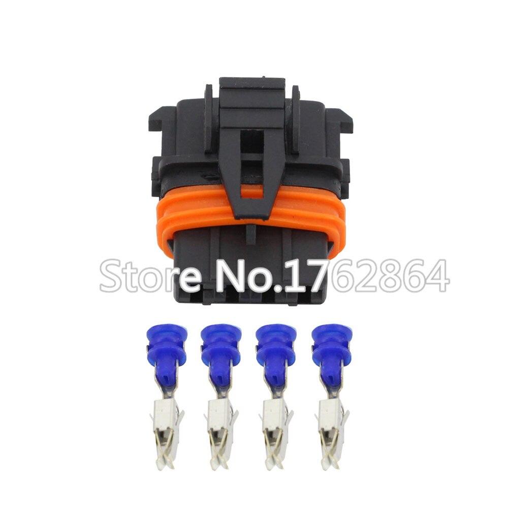 4 Pin DJ7046B-3.5-21 tyco Auto Sealed Automotvei Connector For MAP Sensor Ora
