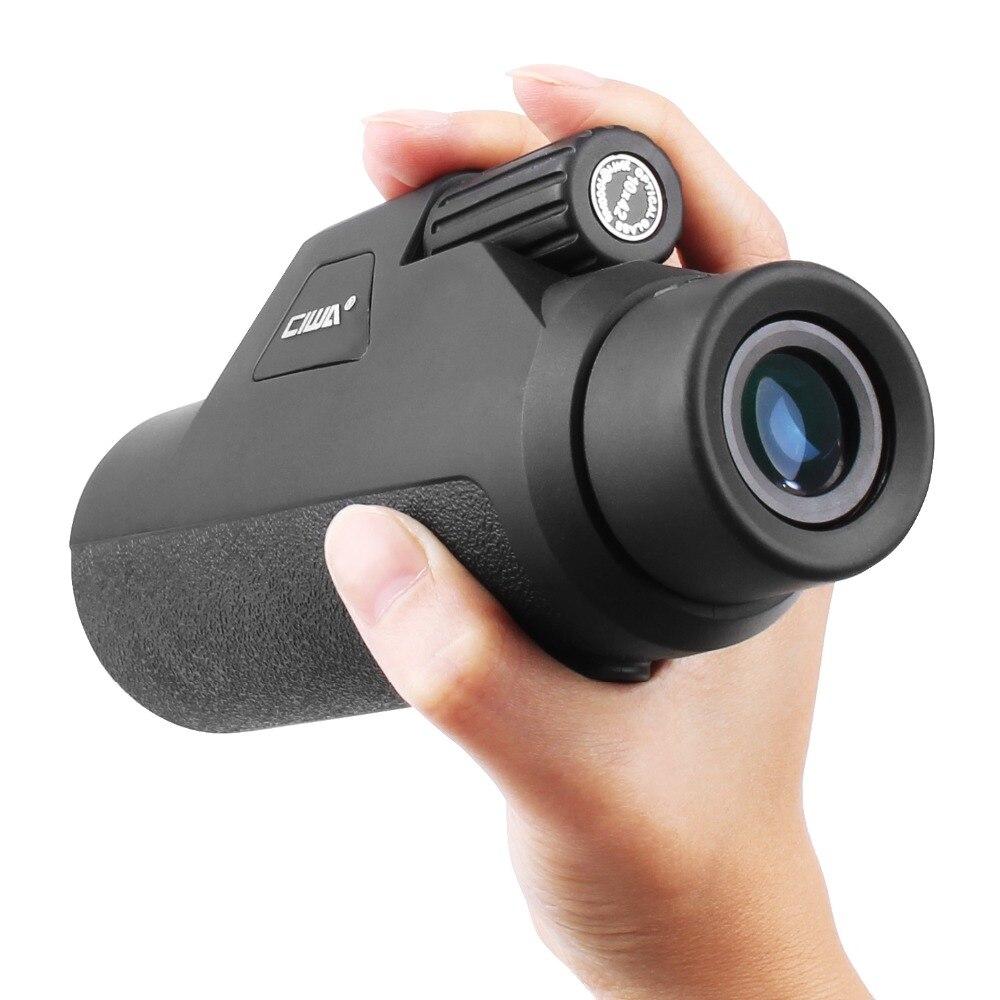 CIWA no-visión nocturna HD visión Monocular ojo 10X42 poderosa atención ocular telescopio HD de alta- potencia-de la lente Monocular del