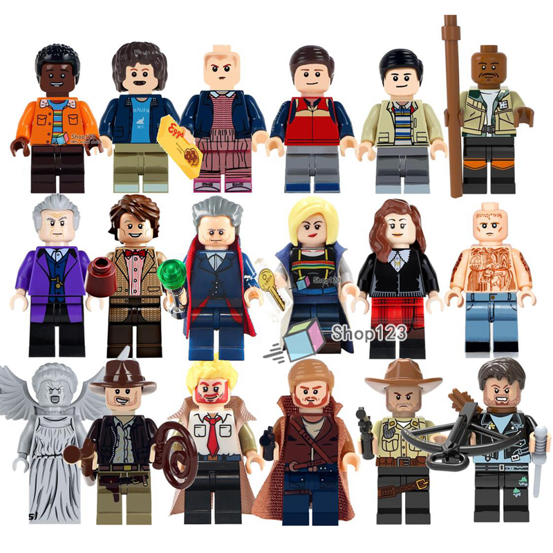 Doctor Who TV Action  Dr Assisant Weeping Angel Eleven Daryl Dixon Morgan Jones Stranger Things Building Blocks Boys Toys