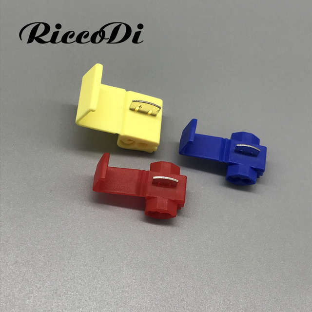 Blue Red Yellow Snap Lock ScotchLok Electrical Wire Cable Splice and ...