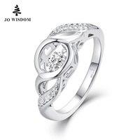 جديد وصول جو الحكمة حلقات مع الرقص توباز جوهرة ستون للنساء 925 خاتم فضة مجوهرات الزفاف سعر الجملة