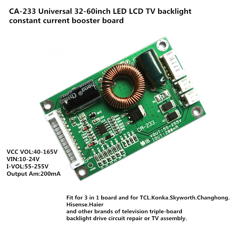80 parts / los ca 233 universal 32 - 60 inch led lcd tv backlight constant current booster board 55 - 255 v output constant curr