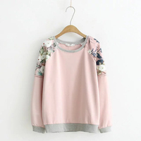XL To 4XL Patchwork Print Hoodies Women Sweatshirt Elastic Plus Size Cotton Full Sleeve 2017 New