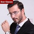 Borde completo gafas de titanio puro marco de las lentes de los hombres gafas gafas graduadas YASHILU 8835 (54-18-140)