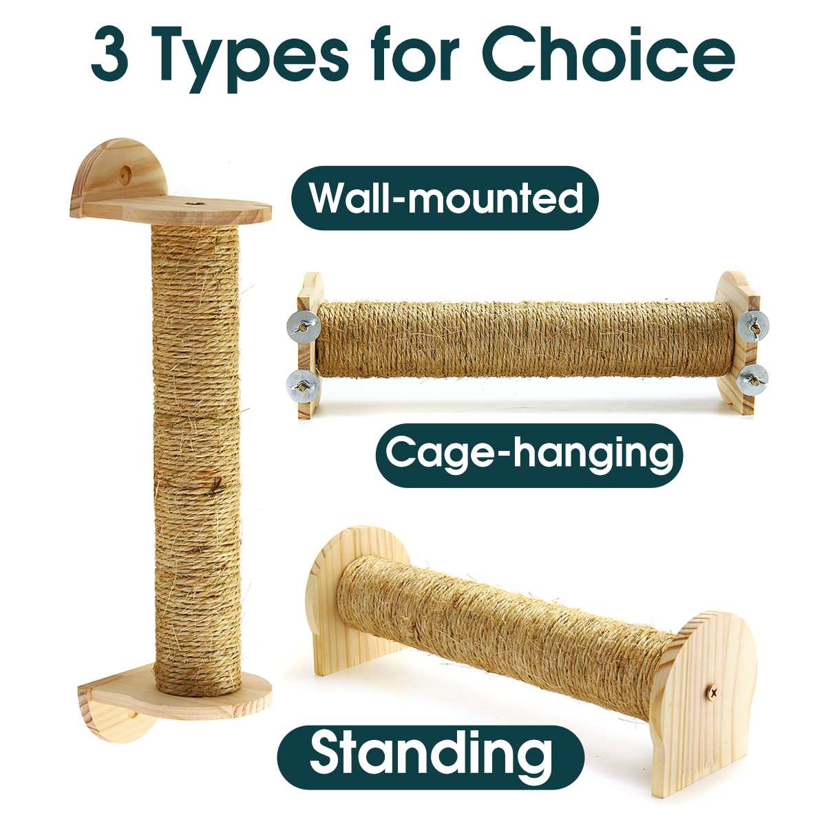 3 Styles Cat Wall Scratching Post Tree Wall-Mounted Cat Sisal Shelf Pet Scratchers Board Toys Cat Climbing Frames