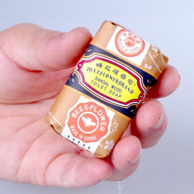 25g mini sapone fiore ape sandalo rimuovere acne bagno di sapone pulizia profond