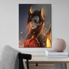 Overwatches Mercy Devil Fanart Canvas Painting Prints Modern Bedroom Home Decoration Wall HD Art Posters Artwork
