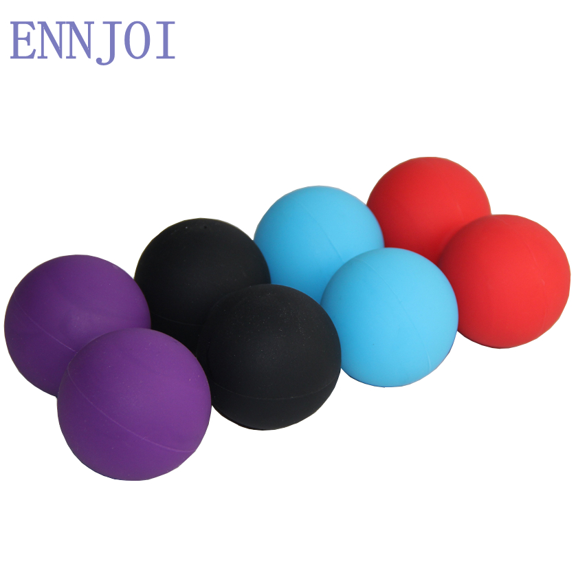 125*62mm Rubber solid Massage peanut ball for feet back Therapy trigger point body Yoga Fitness Myofascial release crossfit tool  yoga ball with feet | 20 Minute Yoga with a Stability Ball 125 62mm Rubber solid Massage peanut font b ball b font for font b feet b
