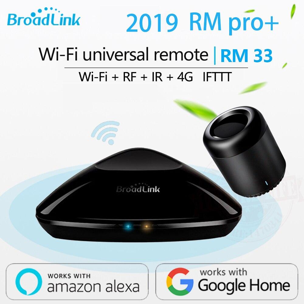 2019 Broadlink RM33 RM פרו +/RM mini3 חכם בית אוטומציה מרחוק אוניברסלי בקר אינטליגנטי WIFI + IR + RF מתג