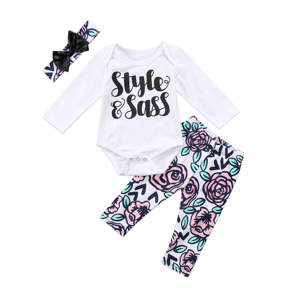 Toddler Infant Baby Girl letter Romper Floral Pants Leggings Outfits 2pcs Newborn Girls Clothes Set spring autumn baby costume