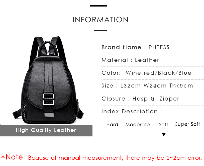 HTB1qOroneOSBuNjy0Fdq6zDnVXaI 2019 Women Leather Backpacks Vintage Female Shoulder Bag Sac a Dos Travel Ladies Bagpack Mochilas School Bags For Girls Preppy