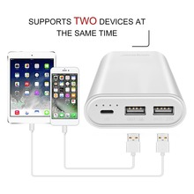 Wopow P10plus 10050 мАч Быстрая зарядка мобильных Мощность Dual USB Выход Портативный Комплекты внешних аккумуляторов Мощность банка для телефонов Планшеты TC