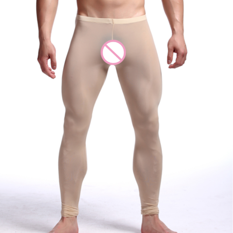 Male Pajama Pants Mens Low-waist Sexy Length Trousers Underpants Long Johns Slim Fit Lon ...