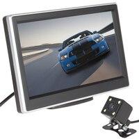 Koop 5 Inch Auto Monitor 480x272 Pixel TFT LCD Monitor kleur Auto Achteruitrijcamera Monitor 420 TV Lijnen Nachtzicht Camera