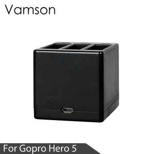 Image 2 - Vamson Three Ports Battery Charger Battery Charging Dock For GoPro 8 7 5 6 for Go Pro Hero 8 7 6 5 Black