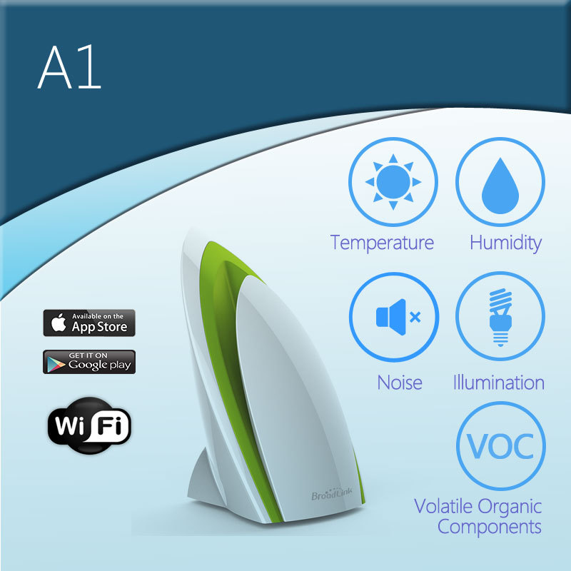 ФОТО Broadlink A1 Smart Home Electronics, E-air Air Quatily/PM2.5 Detector Intelligent Home Systems/Testing Air Humidity