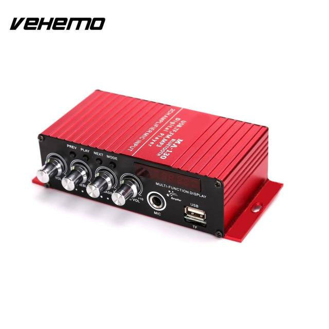 Best Price Vehemo LCD Wireless Bluetooth Amplifier Car Bluetooth Audio Amplifier Smart FM Bluetooth Power Amplifier USB Portable Music