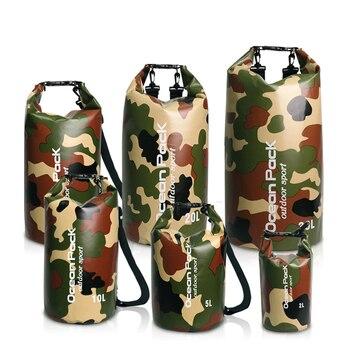 PVC 5L 10L 20L Armazenamento De Natação Impermeável Ao Ar Livre Dry Bag Para O Homem Mulheres Natação Mergulho Rafting Caiaque Flutuante