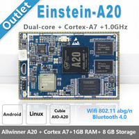 Einstein A20 Development Kit Open Source Wifi BT Antenna USB URAT Allwinner A20 ARM Demo Board