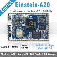 CubieAIO A20 Einstein A20 çekirdek kurulu açık kaynak Android Linu Allwinner A20  Cortex A7 çift çekirdekli  kol Demo kurulu