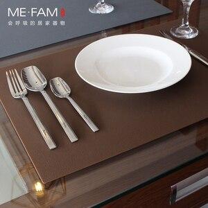 Image 5 - ME.FAM napperon en cuir et Silicone, set de Table Simple, Texture Anti chaleur, Pad de vaisselle, imperméable à leau et résistant à lhuile, tapis de Table de Table