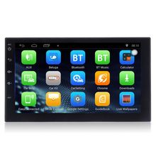Zeepin 7 дюймов 2 din автомобилей Радио gps-навигация Bluetooth Android 6.0 автомобиль MP5 плеер рулевого колеса сзади вид Камера Wi-Fi