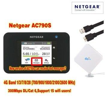 Unlocked Aircard AC790s 4G Mobile Hotspot Sierra Wireless LTE CAT6 300M Portable WiFi Router plus 35dbi 4g antenna