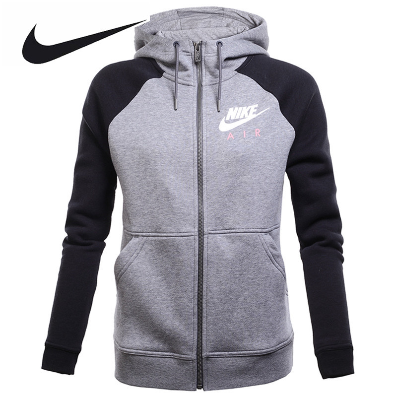 Nike Original Women's Spring Knitted Sportswear Jacket 831835-091 original nike men s black knitted jacket hooded sportswear