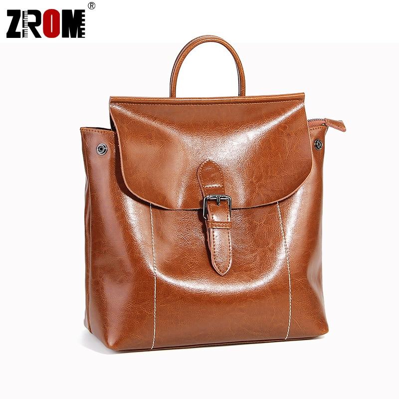 ZROM Fashion Women Backpack High Quality Youth Leather Backpacks for Teenage Girls Female School Shoulder Bag