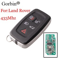 GORBIN 5Buttons Smart Remote Flip Key Keyless Entry Fob 433Mhz For Land Rover Range Rover Sport Discovery 4 2009 2010 2011 keys