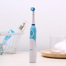 Azdent quente AZ OC2 rotativa escova de dentes elétrica bateria operado 4 cabeças higiene oral produtos de saúde não recarregável escova de dentes